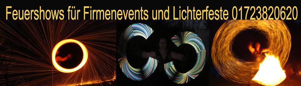 Feuershow Magdeburg für Firmenfeiern und Lichtefeste