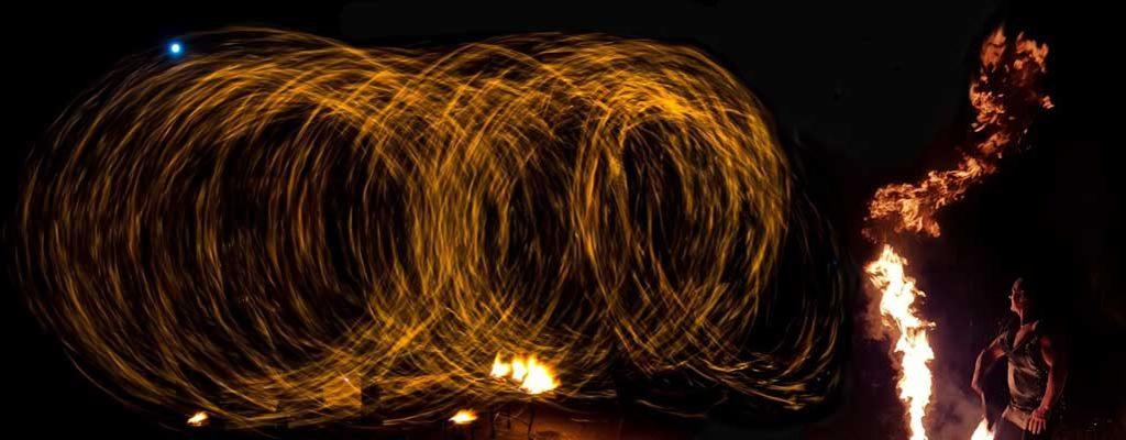 Feuershow Halloween Ricks Gruselfeuershow