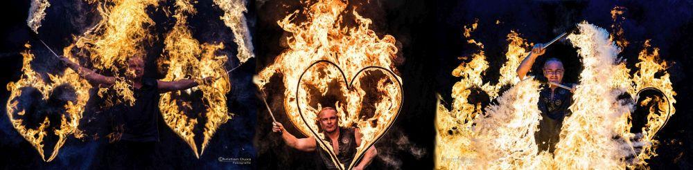 Feuershow Hamburg zur Hochzeit  mit Rick dem Feuerpucker